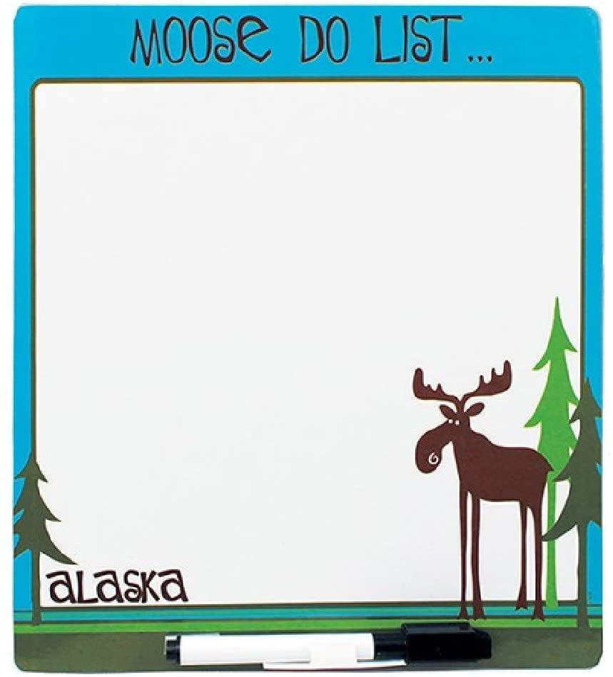 Alaska Leggy Moose Do List Magnetic Dry Erase Memo Board