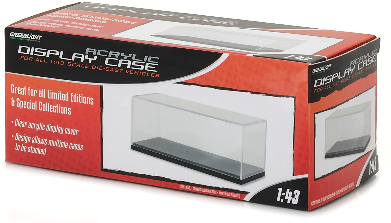 GreenLight 1:43 Acrylic Case with Plastic Base (55023) Die-Cast Accessory