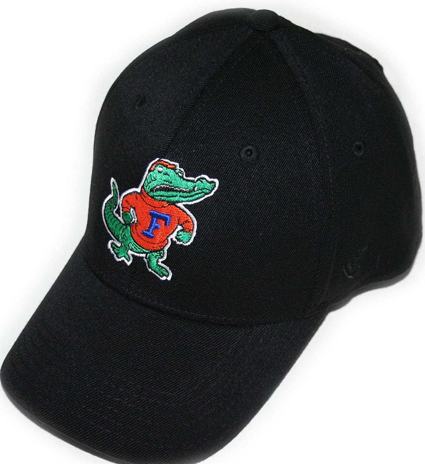 Campus Hats University of Florida Gators FLA Black DHS Limited Vintage Gator Mens/Womens Fitted Baseball Hat/Cap Size Large XL 7 1/2, 7 5/8, 7 7/8