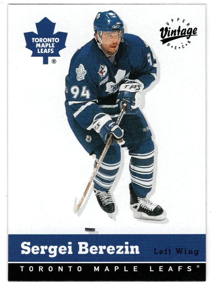 Sergei Berezin - Toronto Maple Leafs (Hockey Card) 2000-01 Upper Deck Vintage # 335 Mint