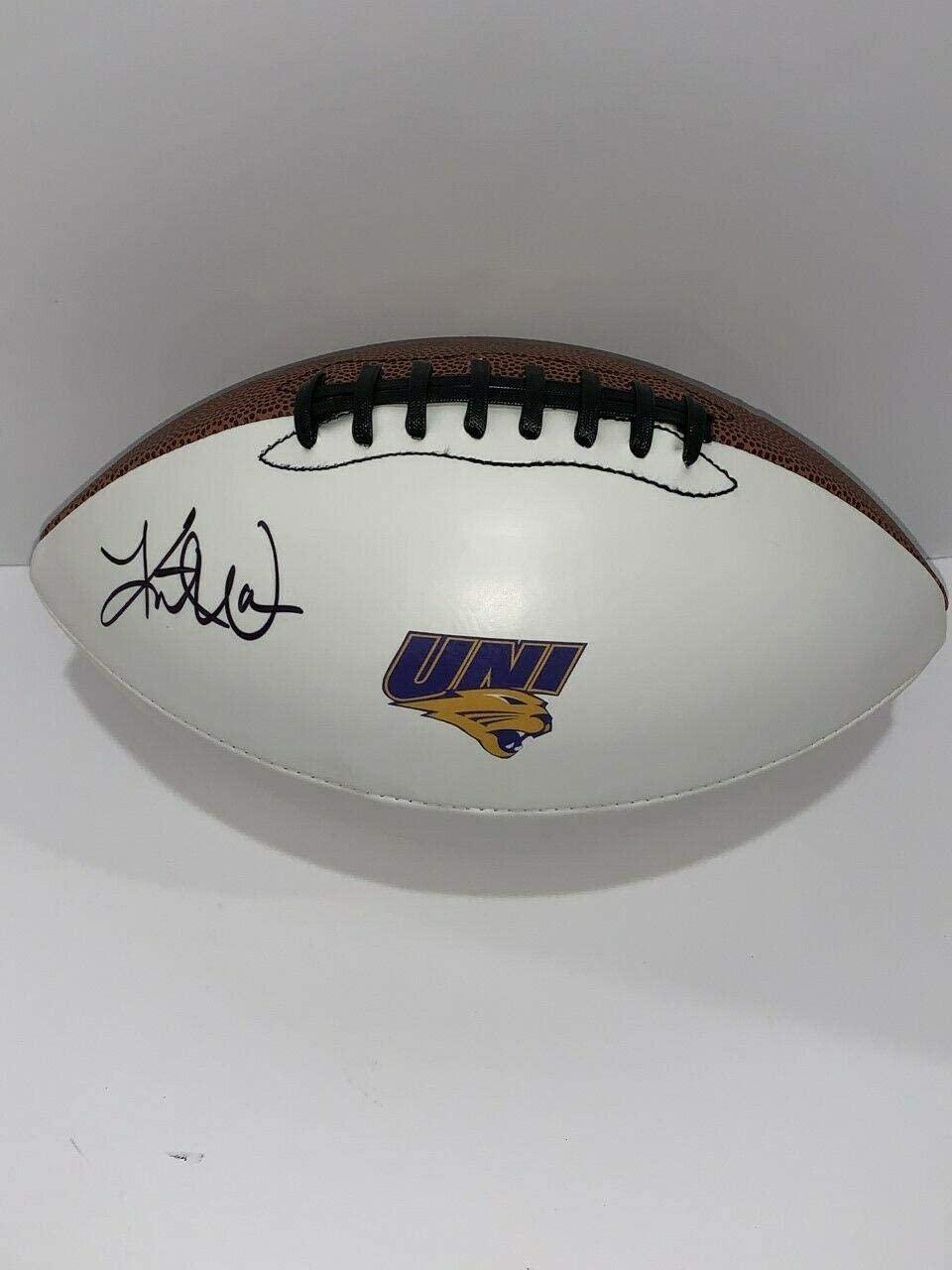 Kurt Warner Signed Football Northern Iowa Panthers Uni Proof Hof - Autographed College Footballs