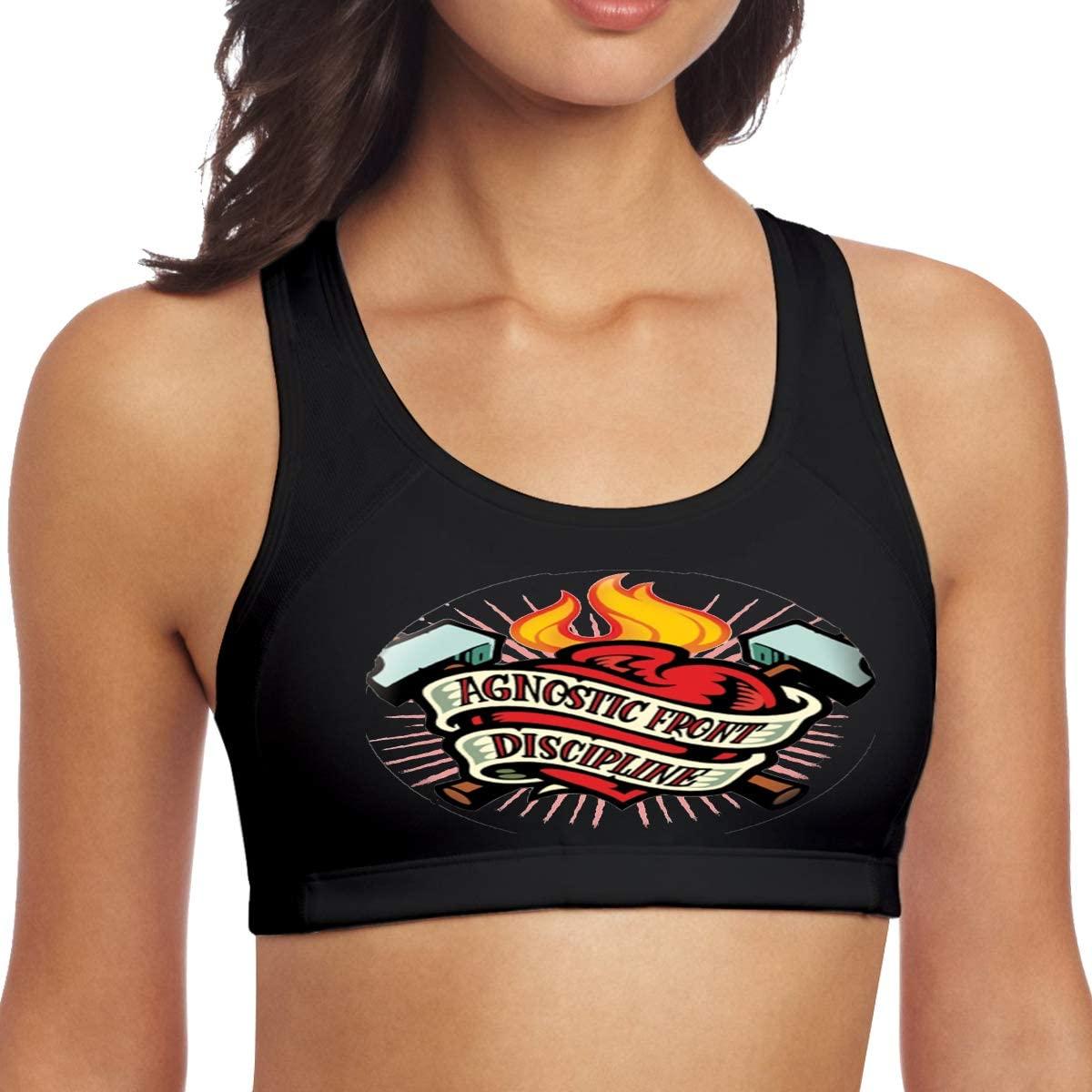Corashopping Agnostic Front Women Fashion Sports Tank Black