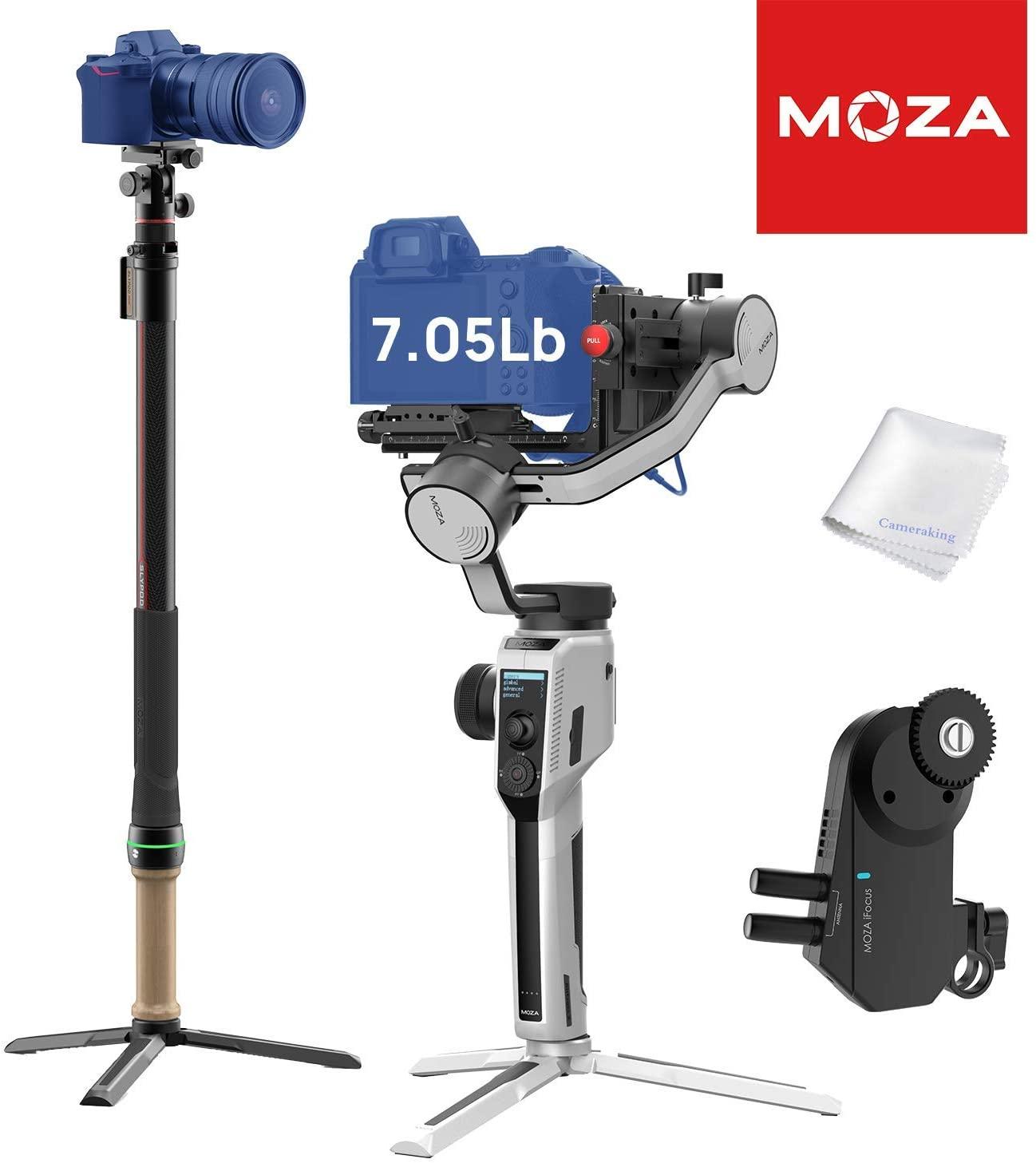 MOZA AirCross 2 Gimbal White + MOZA Slypod Motion Slider + iFocus Motor Professional Kit