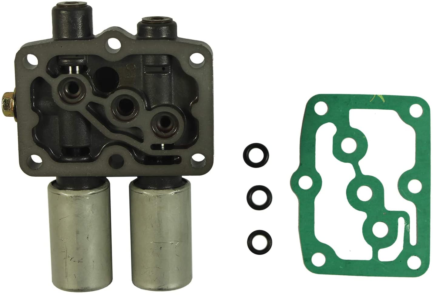JDMSPEED New Transmission Dual Linear Shift Solenoid With Gasket Replacement For Honda Acura 1998 on