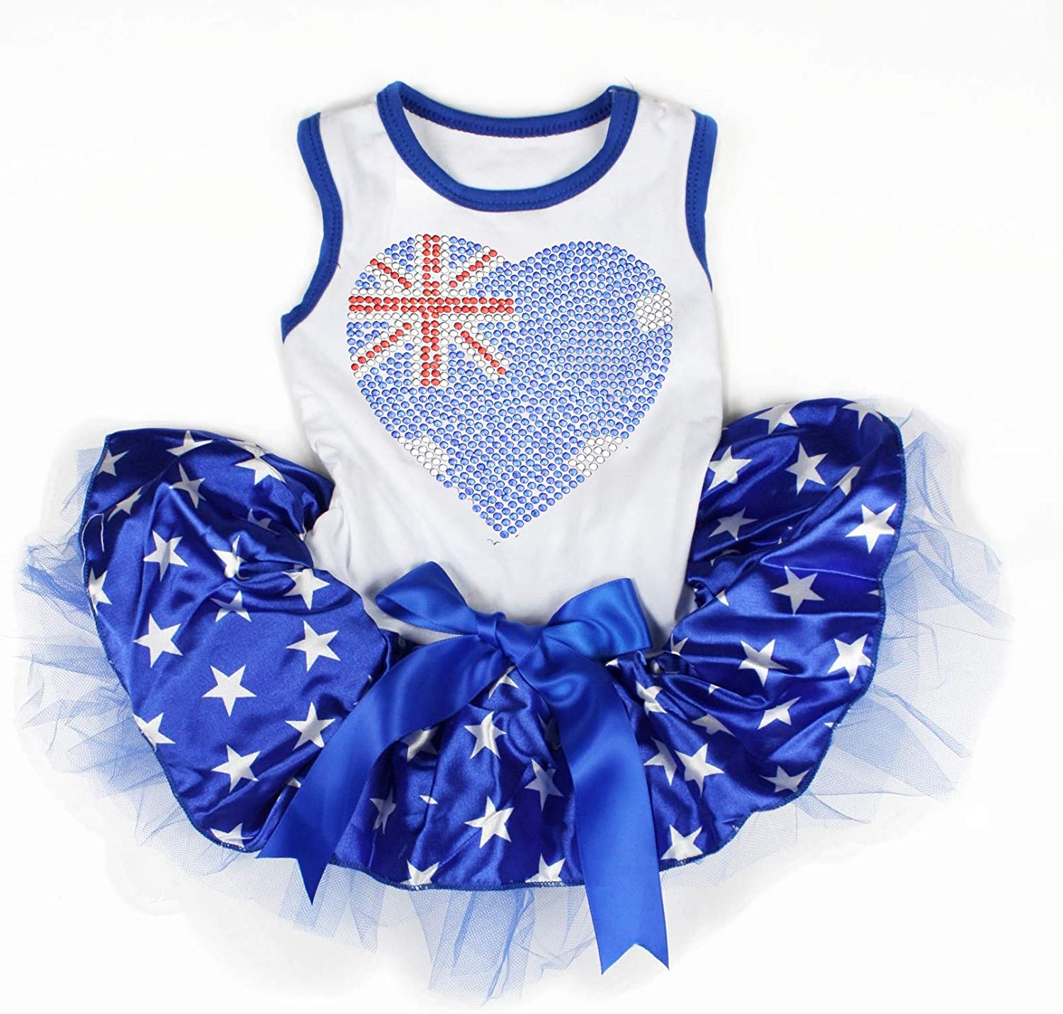Petitebella National Theme Cotton Shirt Tutu Puppy Dog Dress