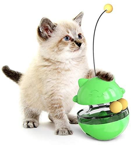 Dongdexiu Pet Supplies Pet Toy Cat Shaking Food Ball Tumbler Toy Ball (Green) Pet Toys
