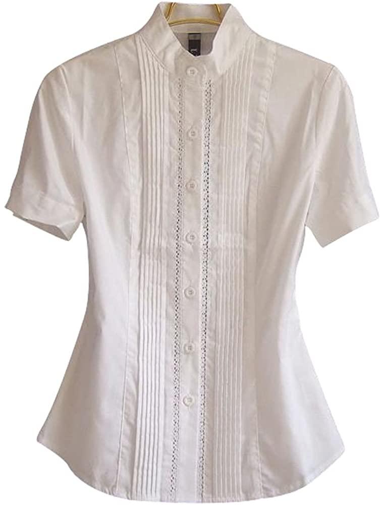 ZAMME Women's Slim OL Bodysuit Tops Blouse Button Down Classic Shirts