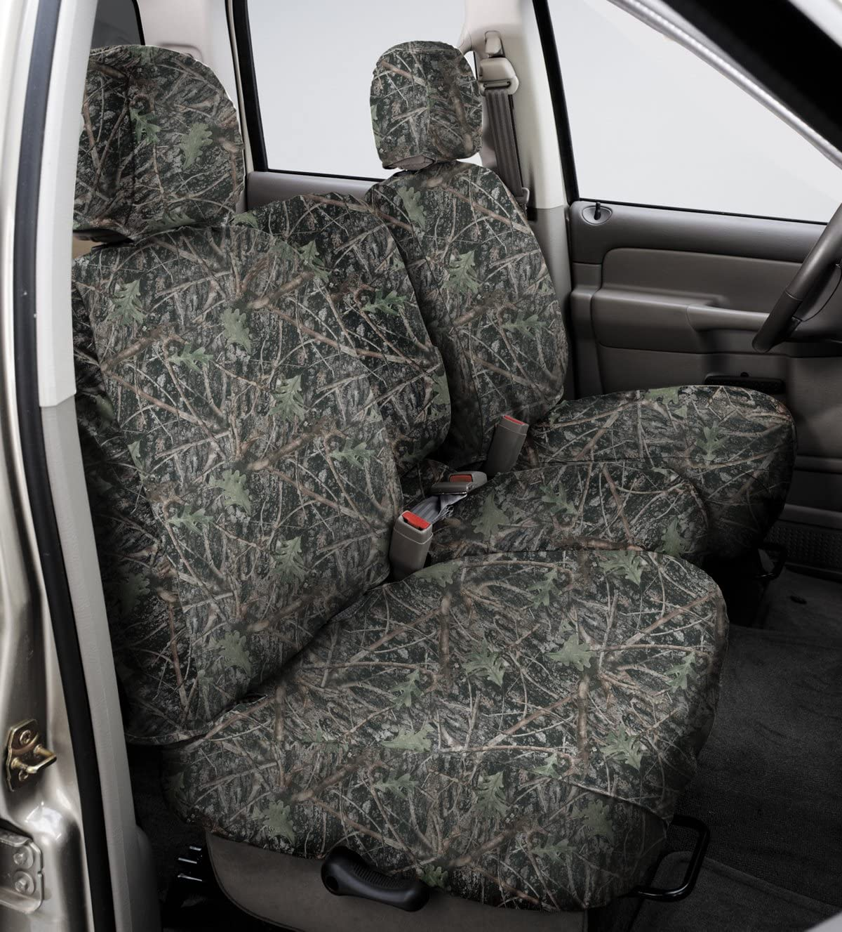 Covercraft SeatSaver Front Row Custom Fit Seat Cover for Select Chevrolet Silverado 1500/GMC Sierra 1500 Models - True Timber Polyester (Conceal Green)