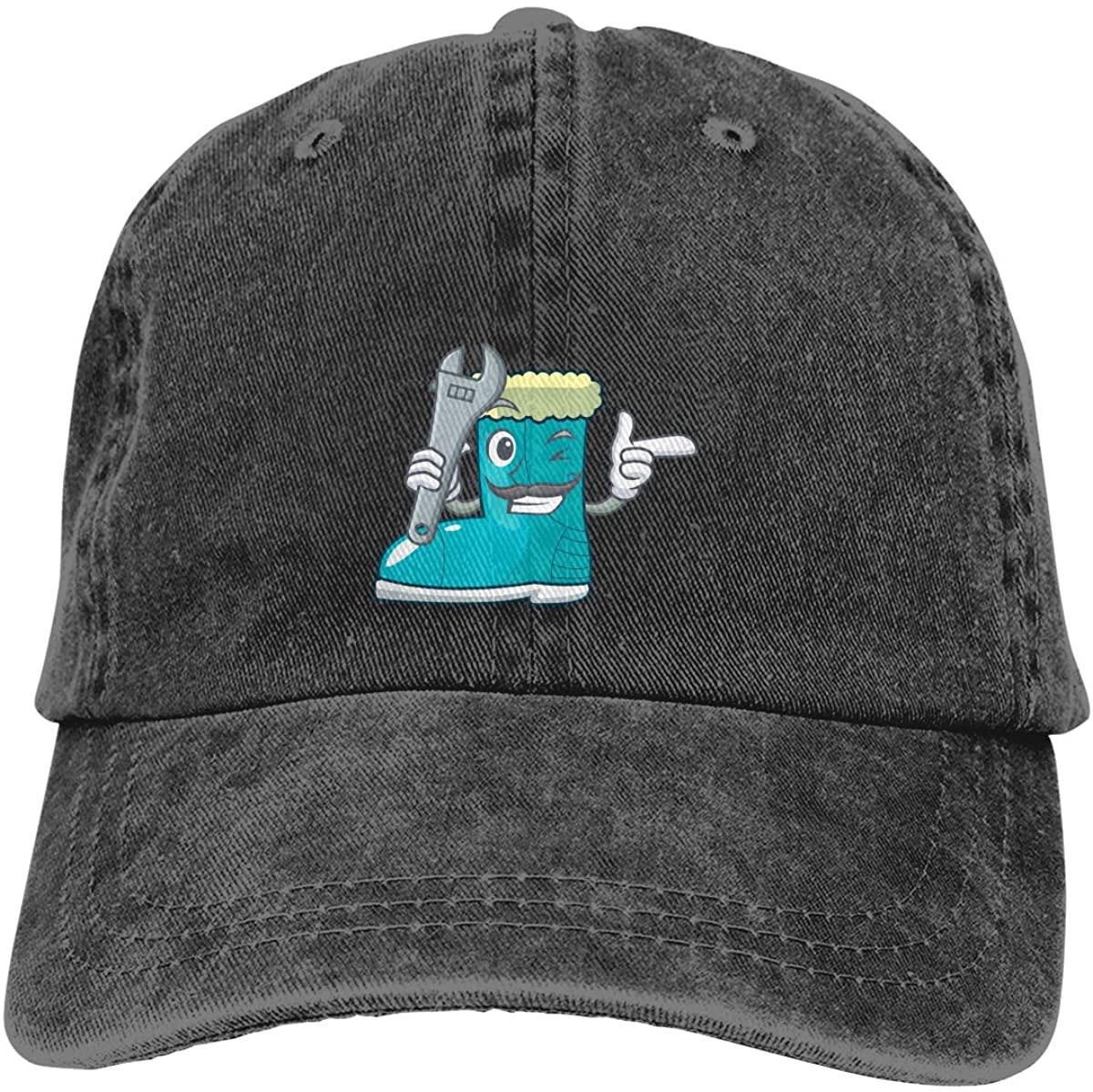 NOT Mechanic Winter Boot Adjustable Unisex Hat Baseball Caps Black