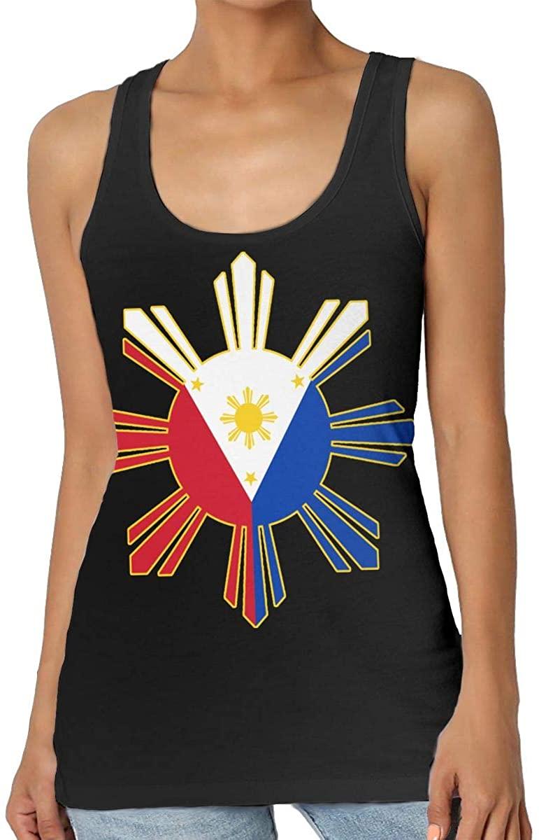 Yongchuang Feng Filipino Flag Womens Tank Top T-Shirt Cool Sleeveless Vest