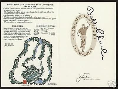 Bob Clarke signed autographed Lions Gate Scorecard