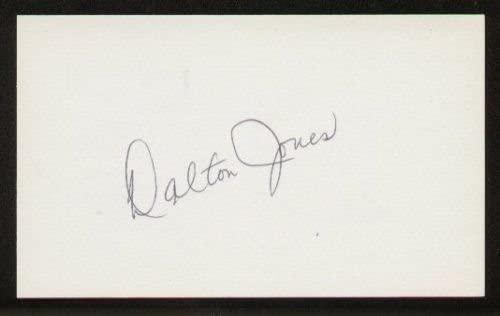 Dalton Jones signed autographed 3x5 index card F1609