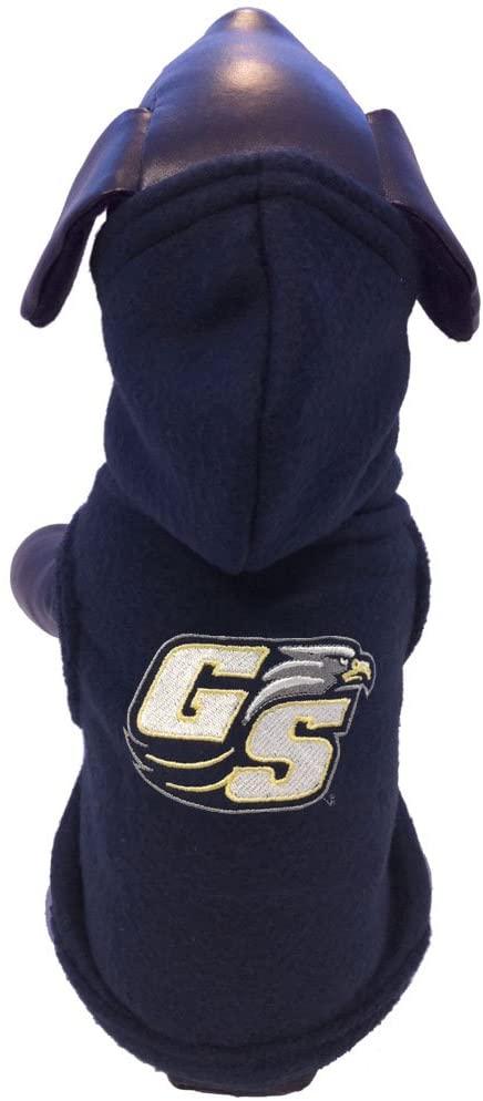 NCAA Georgia Southern Eagles Polar Fleece Hooded Dog Jacket