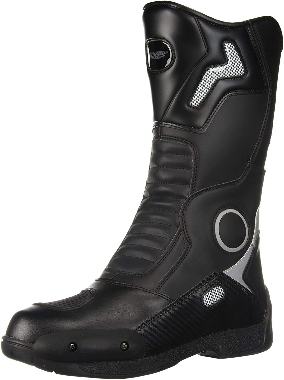 Joe Rocket 1377-0010 Ballistic Touring Mens Boots (Black, Size 10)