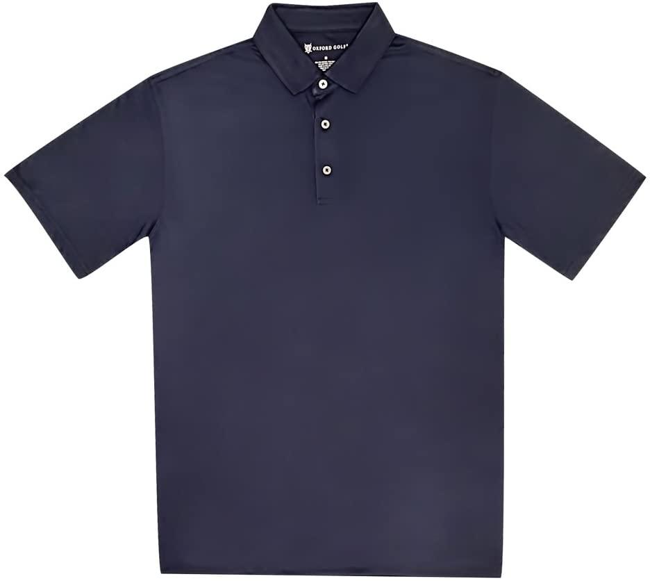 Oxford New Stanton DRI Release Heathered Jersey Golf Polo