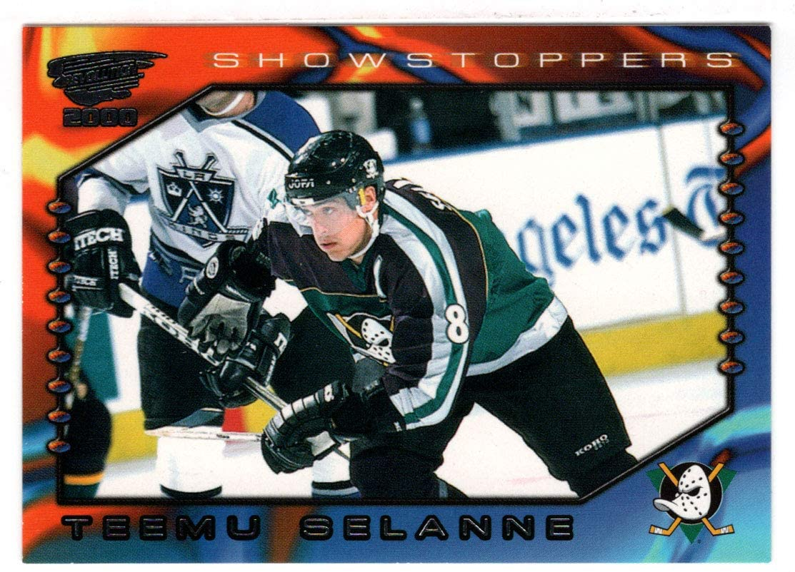 Teemu Selanne - Anaheim Ducks (Hockey Card) 1999-00 Pacific Revolution Showstoppers # 2 Mint