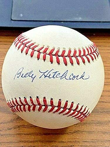Billy Hitchcock Autographed Baseball - OAL ! Red Sox Tigers! - Autographed Baseballs