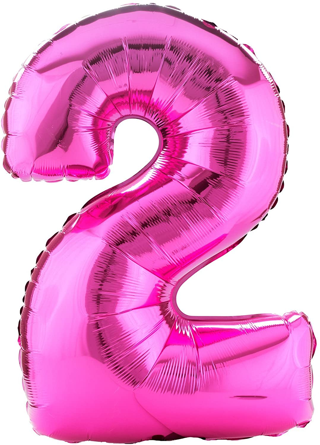 Party Destination 160367 34 in. Pink no.2 Shaped Foil Balloon