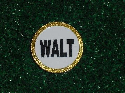 Gatormade Personalized Golf Ball Marker Walt