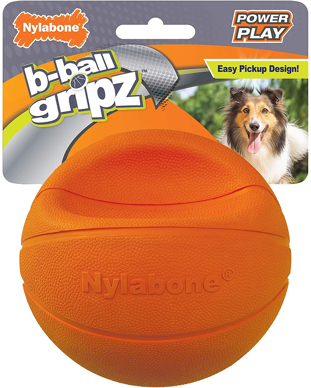Nylabone Power Play Dog Basketball B-Ball