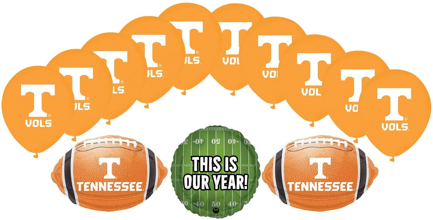 Mayflower Products University of Tennessee Volunteers Football Tailgating Party Supplies Balloon Bouquet Decorations