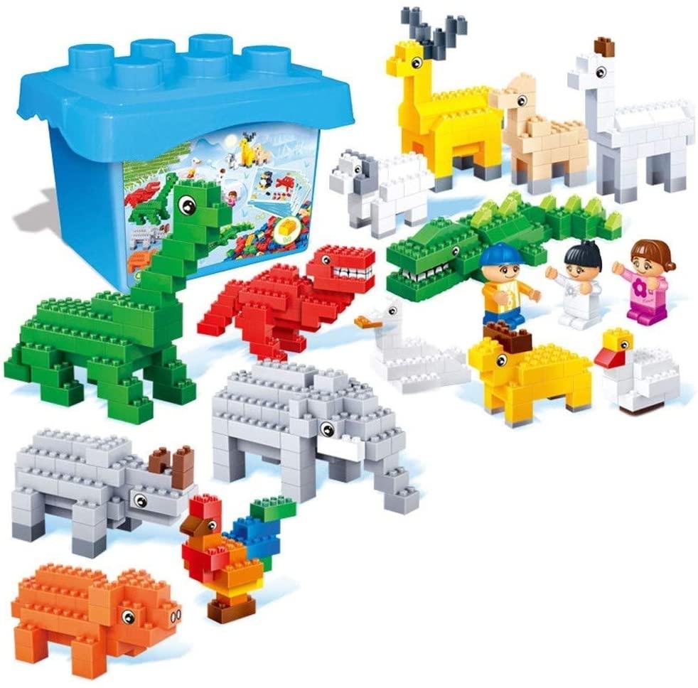 TCAR Preschool Teaching Aid Toy Building Blocks Early Education Puzzle Plastic Spelling Blocks Educational Toys Boy Girl Early Education Enlightenment Playing Zoo Series, 100% Non-Toxic Harmless