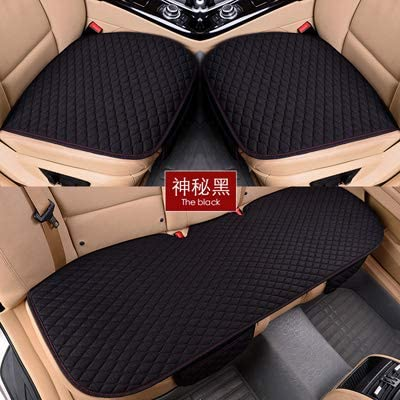 LBWNB Autoaccessory Warm Faux Fur Car Seat Cover Universal Winter Chair Front Seat Cushion Vehicle Auto Car Seat Protector car Accessories (Color : Black)