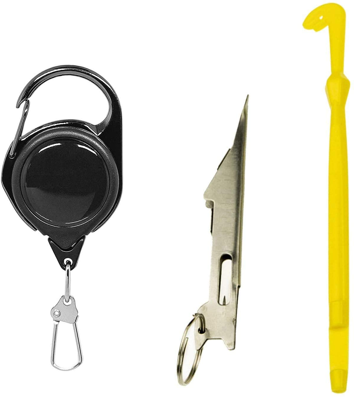 Luengo Fly Fishing Angler Accessories Magnum Knot Tying Tool and Quick Loop Tyer Retractor Combo Green