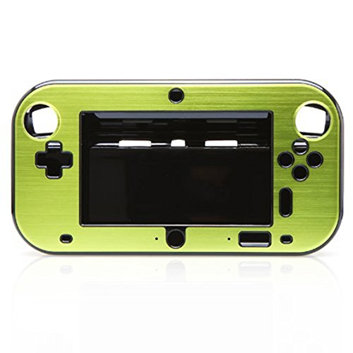 SODIAL(R) Aluminum Case Cover for Nintendo Wii U Gamepad Remote Controller - Green (without retail package)