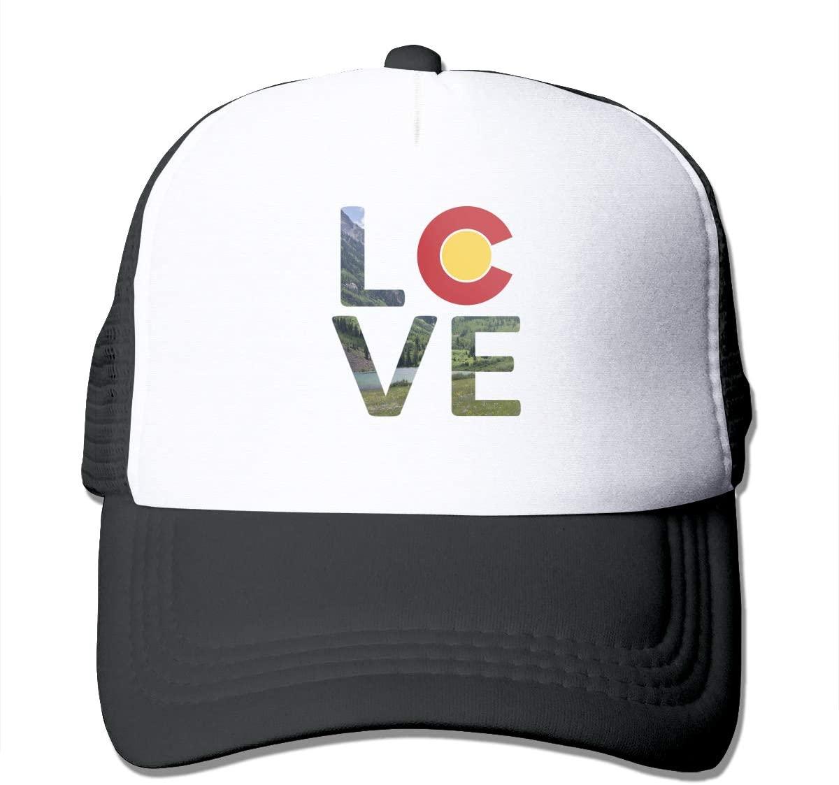 Adult Trucker Hat Love Colorado Custom Mesh Caps