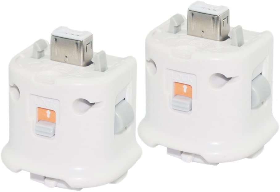 Heckia 2X Motion Plus Adapter Sensor for Nintendo Wii Wii U Remote Controller - White
