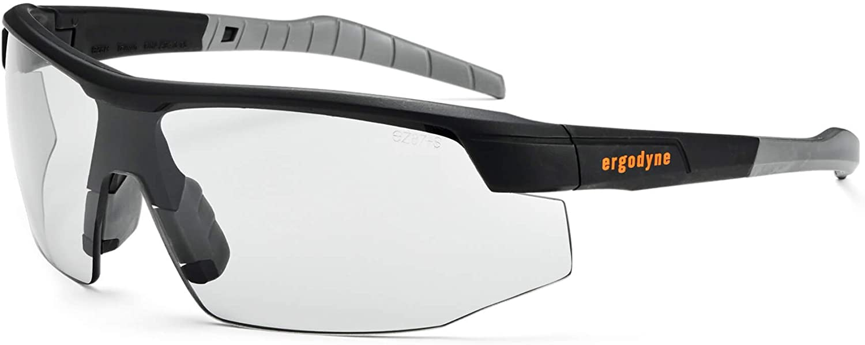 Ergodyne Skullerz SKOLL Safety Glasses-Black Frame, Indoor/Outdoor Lens