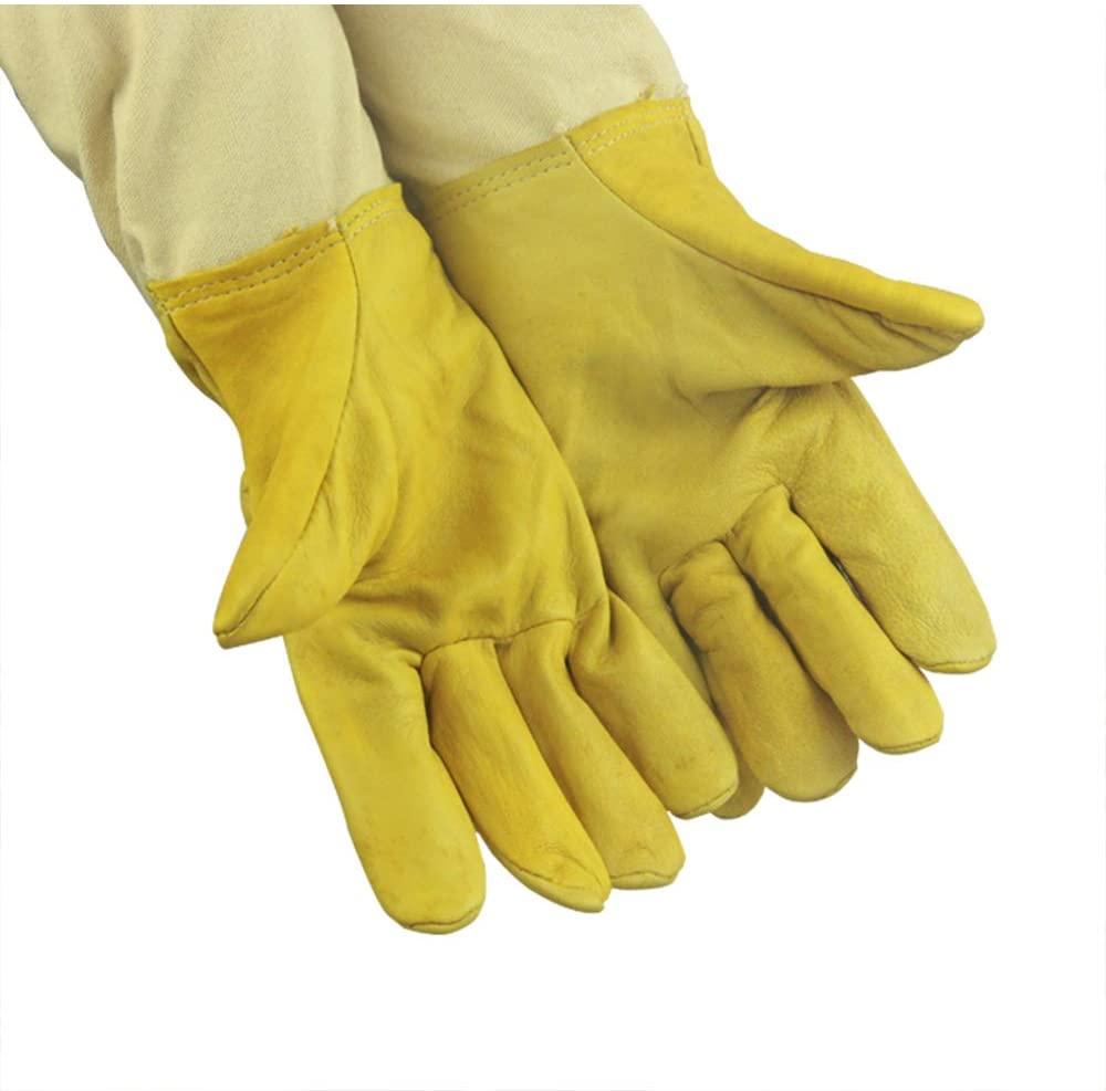 Li-HIM Beekeeping Gloves, Beekeeper's Glove Long Sleeve Anti-bee Sting Durable for Commercial Beekeepers (19.29In)