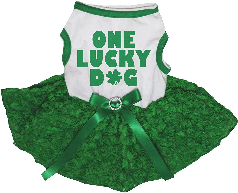 Petitebella One Lucky Dog Puppy Dog Dress
