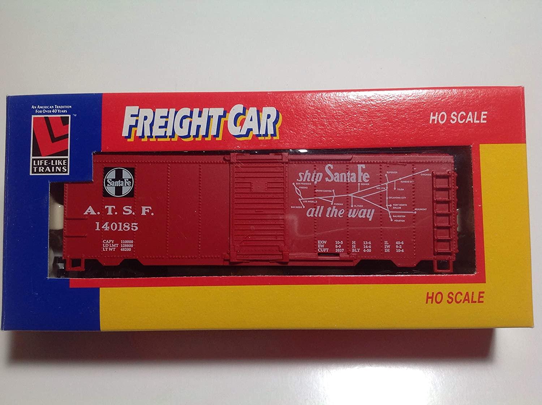 Life-Like Trains HO Scale Santa Fe ATSF #140185 Single Door Box Car