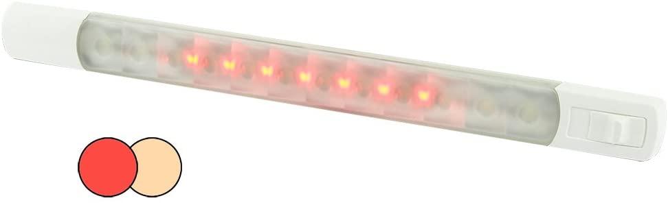 HELLA Marine Surface Strip Light w/Switch - Warm White/Red LEDs - 12V