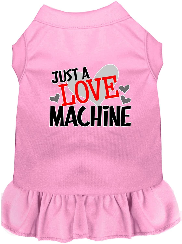Mirage Pet Product Love Machine Screen Print Dog Dress Light Pink Sm