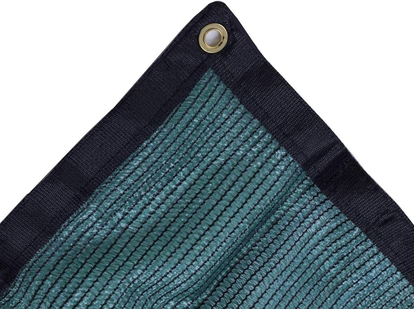 JTsuncover- Green 70% - Shade Cloth Mesh Sun Block - UV Resistant - Grommets Each 2ft - Come with Cables Ties - 20 ft x 50 ft