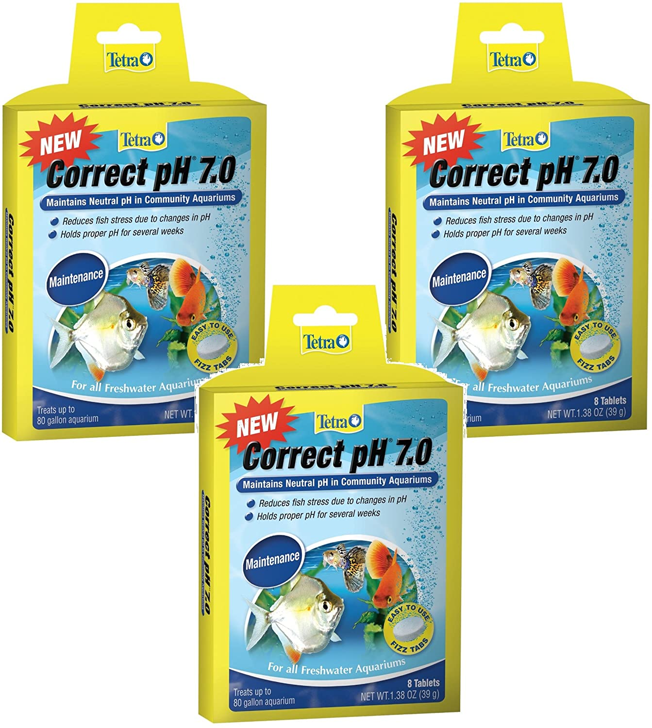 Tetra Correct pH Tablets - 24 Tablets Total (3 Packs with 8 Tablets per Pack)