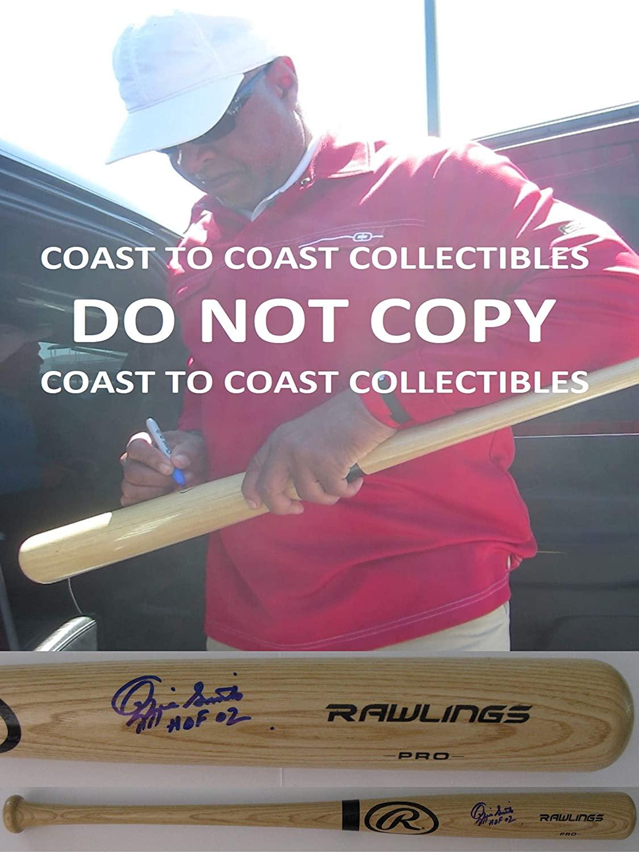 Ozzie Smith San Diego Padres Cardinals signed autographed baseball bat COA proof
