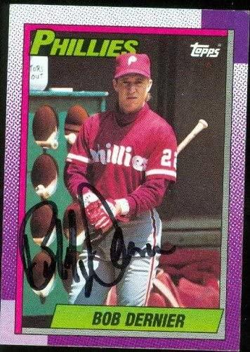 Bob Dernier autographed Baseball Card (Philadelphia Phillies) 1990 Topps #204