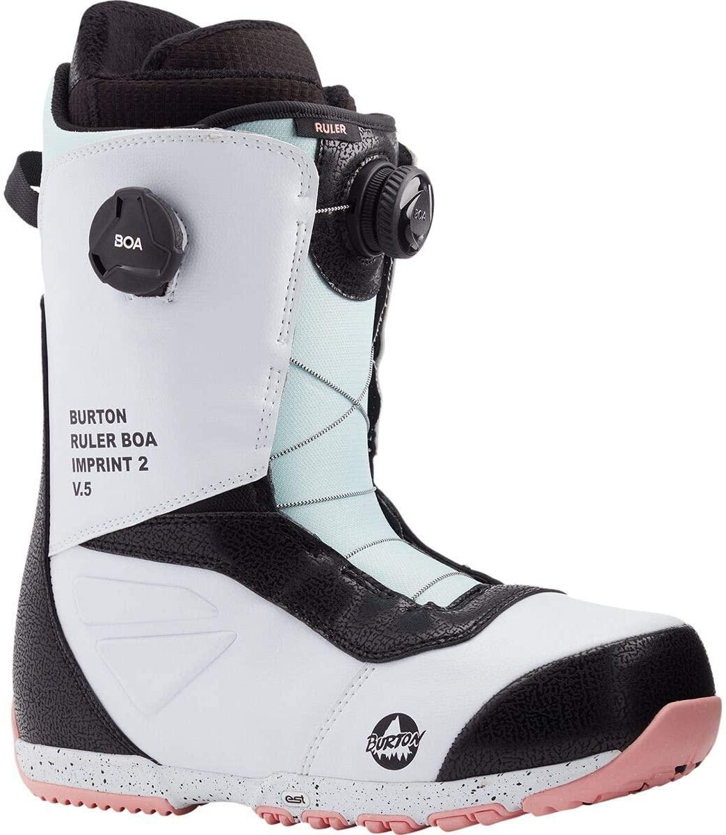 Burton Ruler Boa Snowboard Boot - Men's White/Black/Multi, 9.5