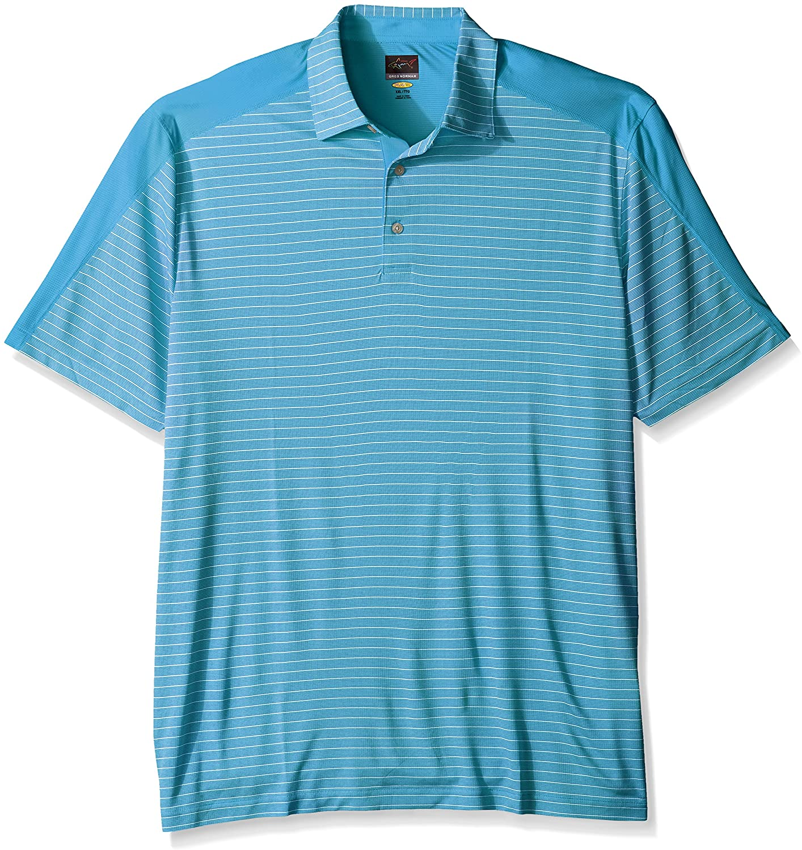 Greg Norman PGA Mens Stripe Weatherknit Polo