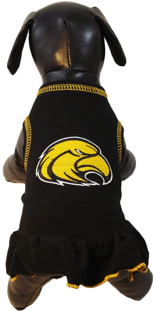 NCAA Southern Mississippi Golden Eagles Cheerleader Dog Dress (Team Color, X-Small)