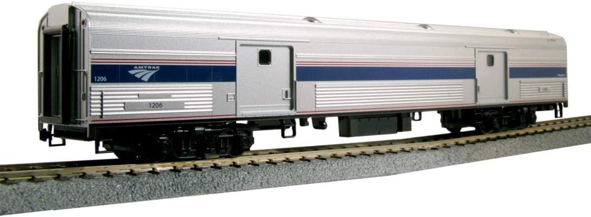 Kato USA Model Train Products HO Amtrak Baggage Car Phase VI #1231, 35-6203