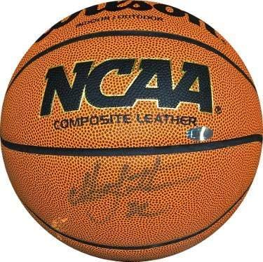 Christian Laettner signed Wilson NCAA Indoor/Outdoor Basketball minor bleed/imperfect (Duke Blue Devils)- Hologram - Steiner Sports Certified