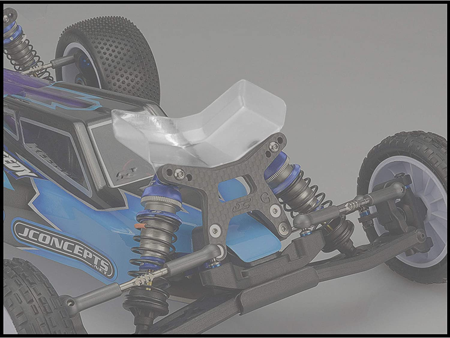 J Concepts Inc. 1/10 Aero Front Clear Wing, Gullwing Front Arm, Narrow (2): B6, B6D, JCO0160