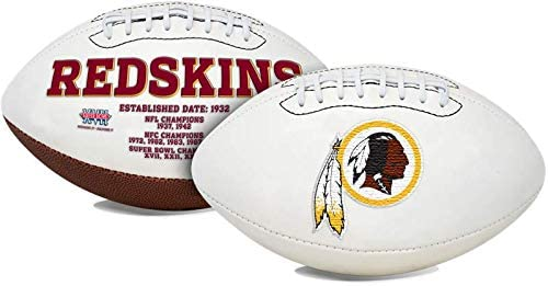 Washington NFL Embroidered Signature Series Autograph Football with Championship Logos