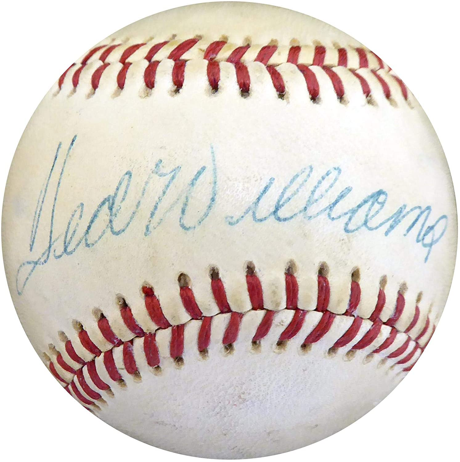 Ted Williams Autographed Baseball Boston Red Sox Beckett BAS #A28352 - Beckett Authentication - Autographed Baseballs