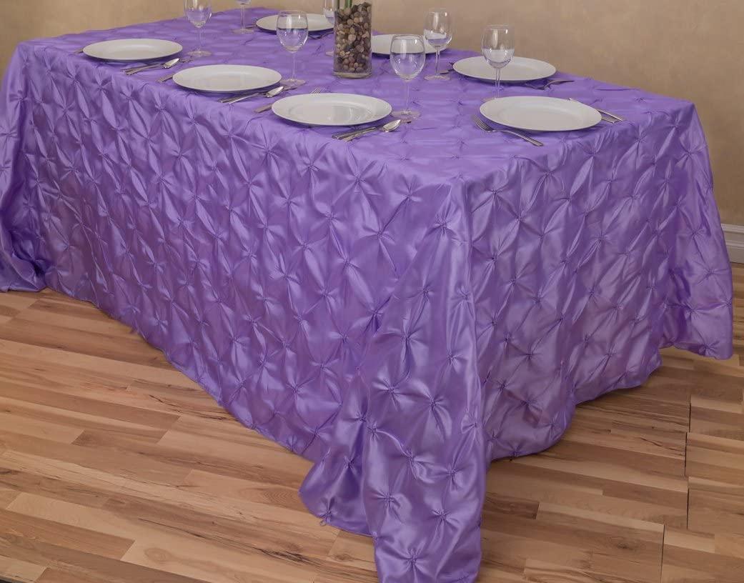 LinenTablecloth Rectangular Pinwheel Tablecloth, Lavender, 90